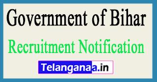 Government of Bihar Recruitment Notification 2017