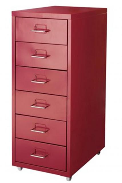 Ikea Red Cabinet Kitchen