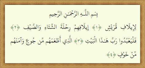106 Teks Surat Al Quraisy Terjemah Dan Tafsir Jalalayn