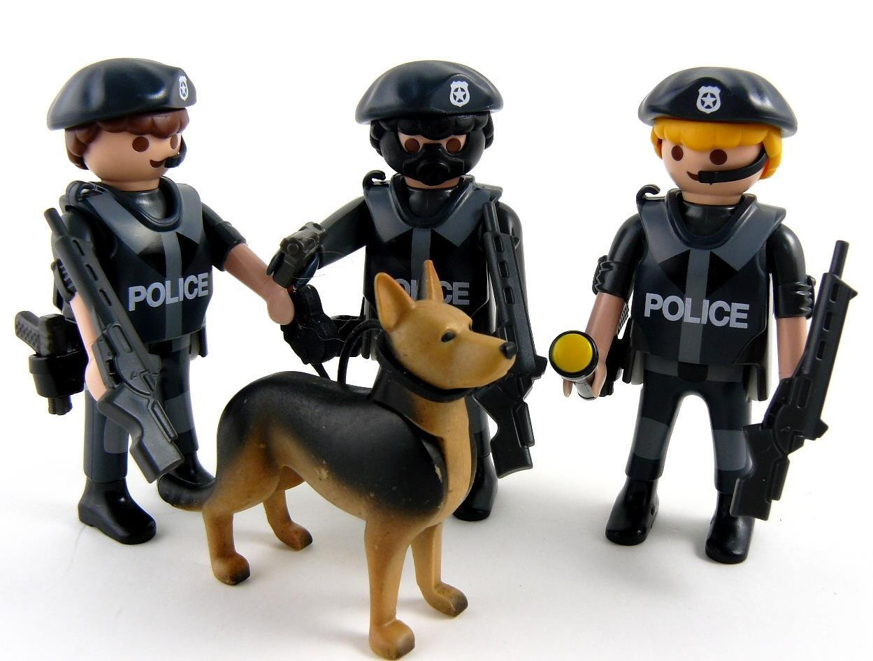 Gsg9 1 87 unit sp ciale playmobil personnages police - Playmobile policier ...