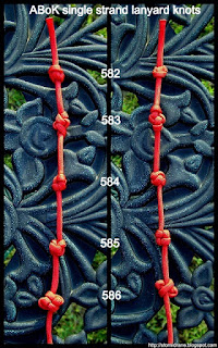 A few single strand lanyard knots