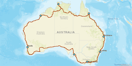 Map Of Australia Highways.Maps Mania The Great Australian Road Trip