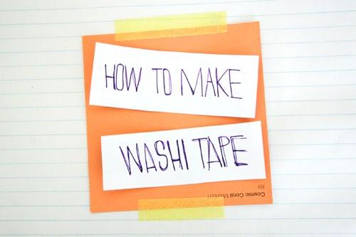 fiks d how to make washi tape. Black Bedroom Furniture Sets. Home Design Ideas