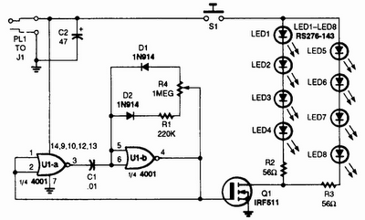 Circuit panel: IR illuminator for Night Vision Tv Cameras