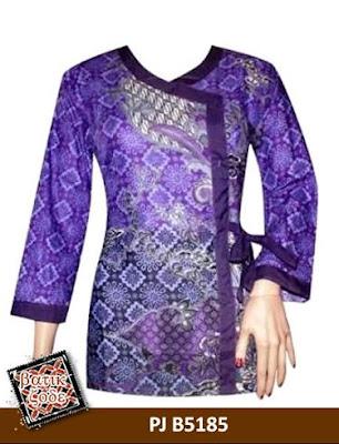 Gambar Model Baju Batik Kancing Samping