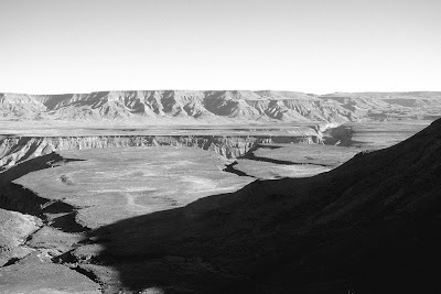 Fish River Canyon, Namibia, hiking, black and white