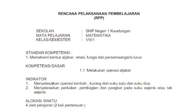 RPP Matematika SMP/MTs Kelas 8 Kurikulum 2013 Semester 1 dan 2 docx