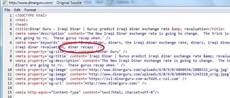 It S Interesting To See That Dinar Recaps Is Located In The Source Code For Guru Under Keywords And Vice Versa