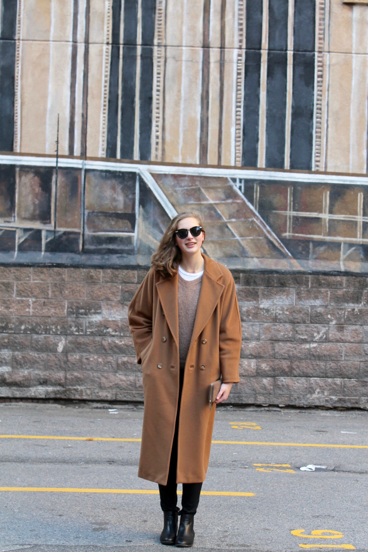 Tips to look expensive: wear a camel coat