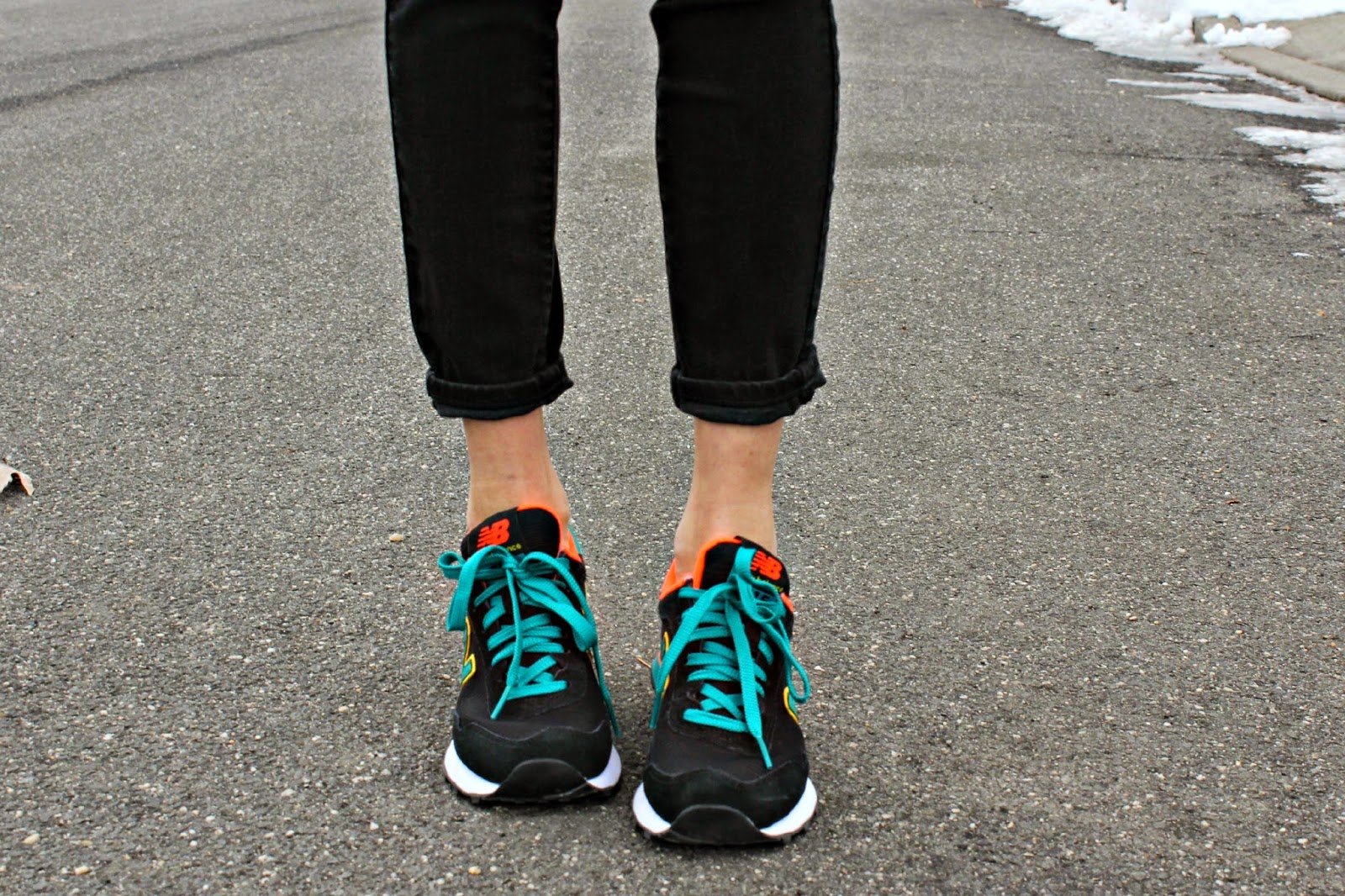 New Balance neon sneakers