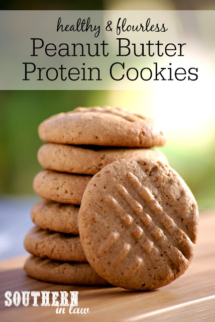 Healthy Peanut Butter Protein Cookies Recipe | low fat, gluten free, high protein, low carb, flourless, healthy, clean eating