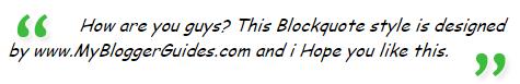 Blogger Blockquote Style 15