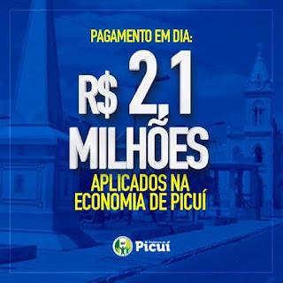 Prefeitura de Picuí paga mês de setembro aos servidores