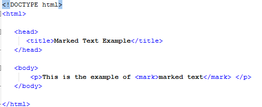 HTML Marked Text