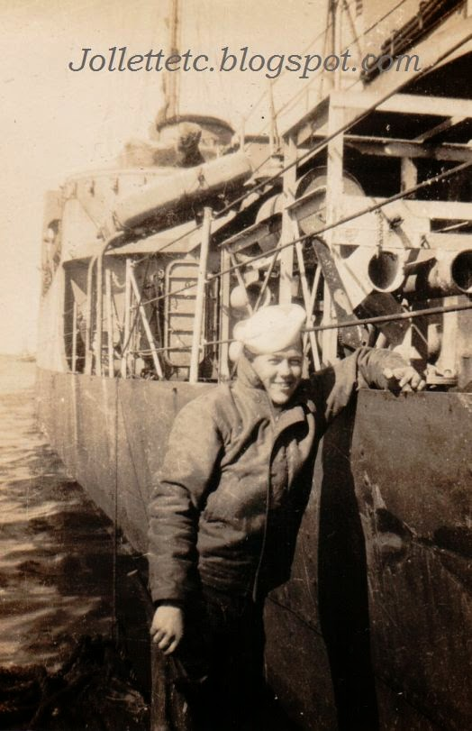 Unknown sailor on USCGC Eastwind 1946 or 47