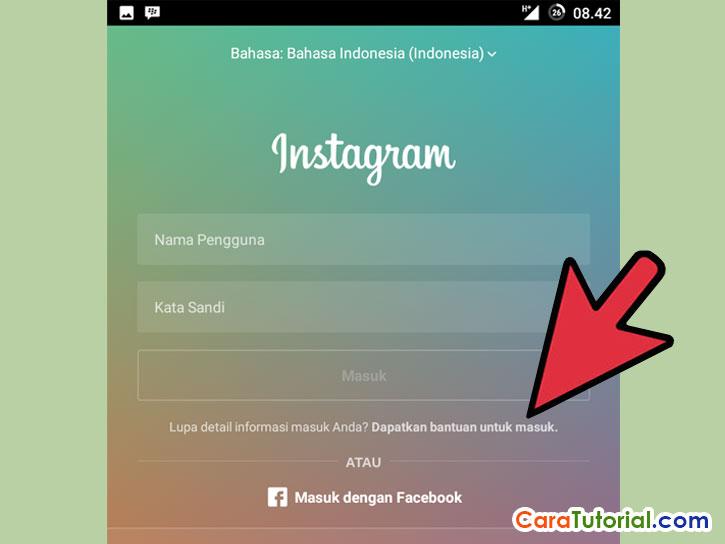 Dapatkan Bantuan untuk masuk ke instagram