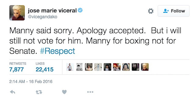 Vice Ganda already accepted Pacquiao's apology, but still has something to say to him!