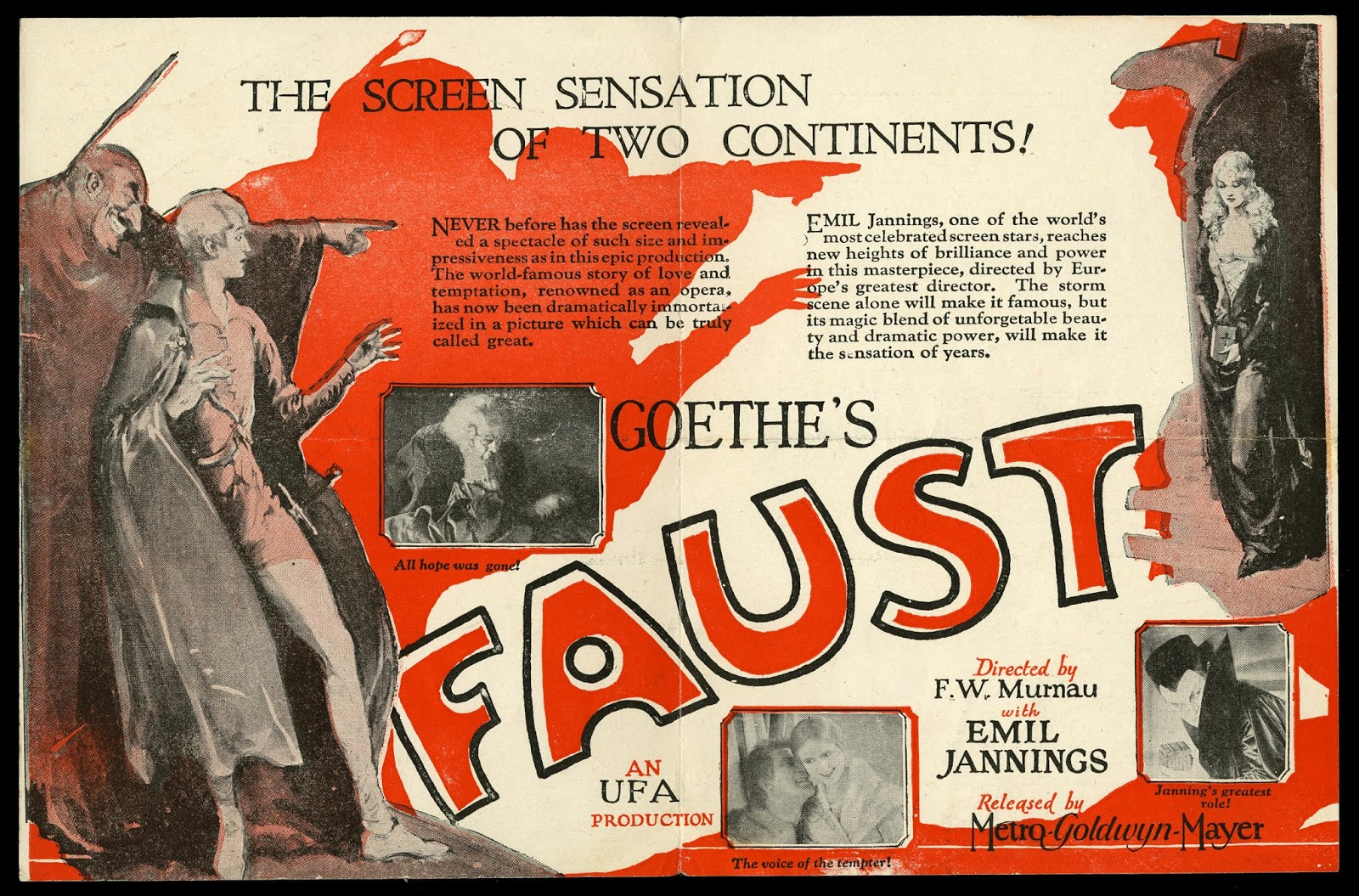 pretty nice 5e2d7 f821f Faust (German  Faust – Eine deutsche Volkssage) is a 1926 silent film  produced by UFA, directed by F. W. Murnau, starring Gösta Ekman as Faust,  ...