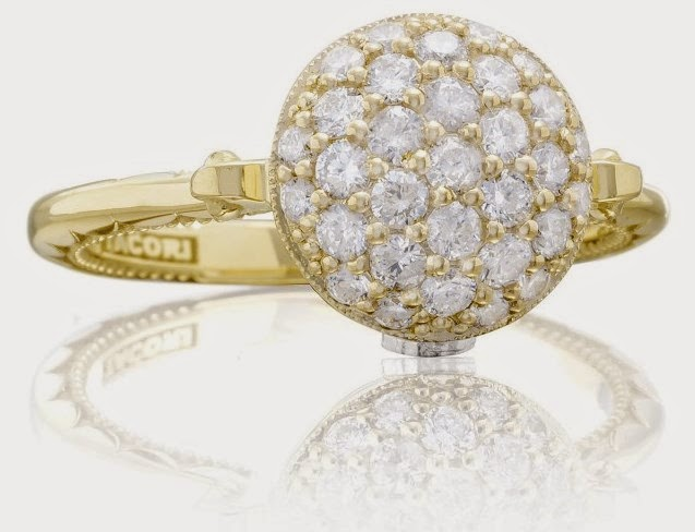 TACORI 18k Yellow Gold 0.62ct Diamond Ring