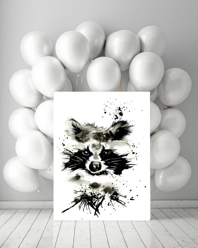 poster, tvättbjörn, tvättbjörnar, posters, konsttryck, plakat, plakater, prints, print, annelies design, inredning, tavla, tavlor, barnrum, barnrummet, svart och vitt, svartvit, svartvita, svart, vitt, vit, vita, webbutik, webbutiker, webshop, nettbutikk, nettbutikker, anneliesdesign, på väggen