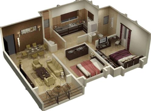 Sketsa Denah Rumah Minimalis Idaman 2 Lantai 3 Kamar Tidur