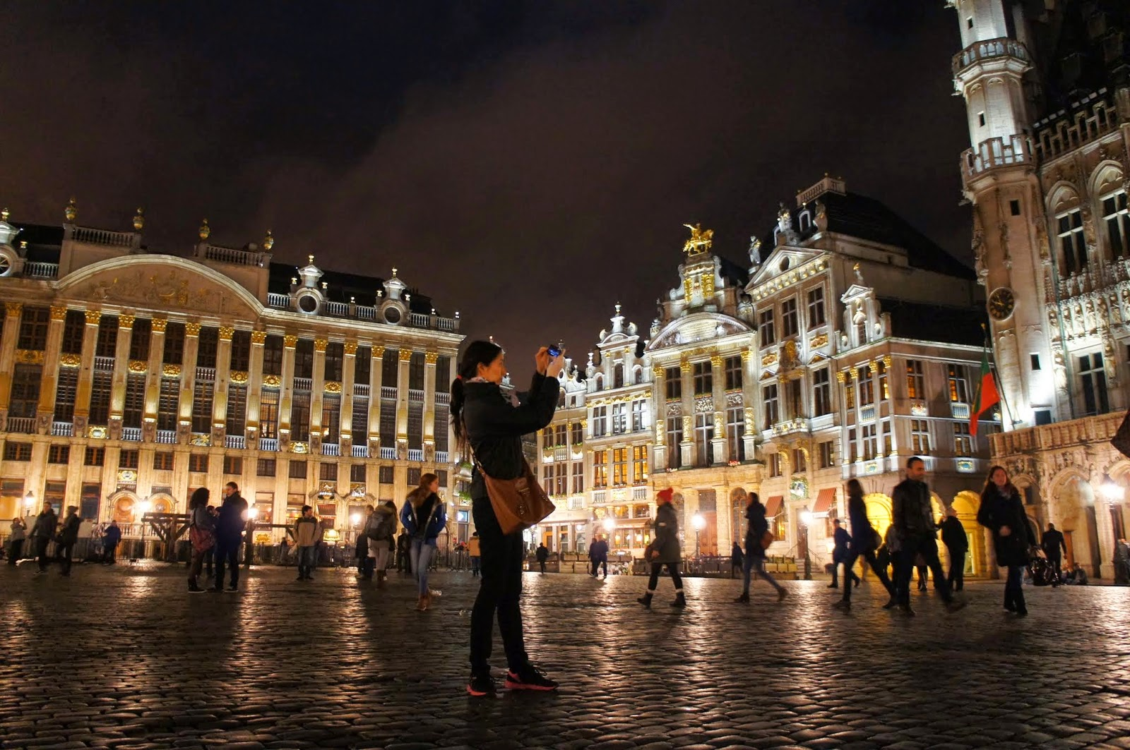 Brussels - Grand Place at night is gorgeous