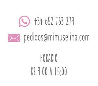 Contacto tienda Mimuselina villanueva de la cañada productos para bebé regalos originales www.mimuselina.com