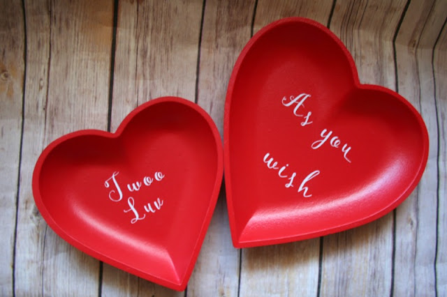 I am joining a few of my Cricut-loving blogging friends to bring you some Valentine's Day inspired crafts, like these Princess Bride inspired wooden trays.