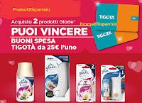 Logo Concorso ''Premi d'Amore con Glade'': vinci 600 Gift Card Tigotà da 25€