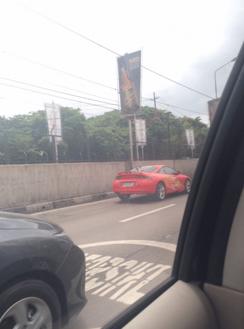 A Lightning McQueen Car Was Seen Driving Along Edsa! You'll Never Believe It! Must See!