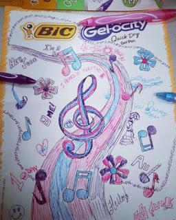 bic gelocity pens doodle art