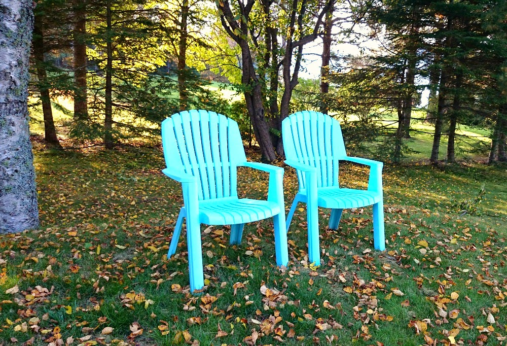Aqua Lawn Chairs