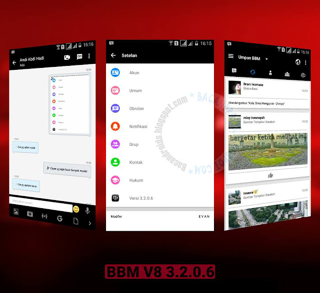 Update BBM Mod v8 Black white v3.2.0.6 Apk Clone unclone