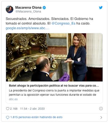 https://twitter.com/Macarena_Olona/status/1245650845619740675?ref_src=twsrc%5Etfw%7Ctwcamp%5Etweetembed%7Ctwterm%5E1245650845619740675&ref_url=https%3A%2F%2Fwww.eldiario.es%2Fpolitica%2FCongreso-iniciativas-coronavirus-grupos-sueldos_0_1012099871.html