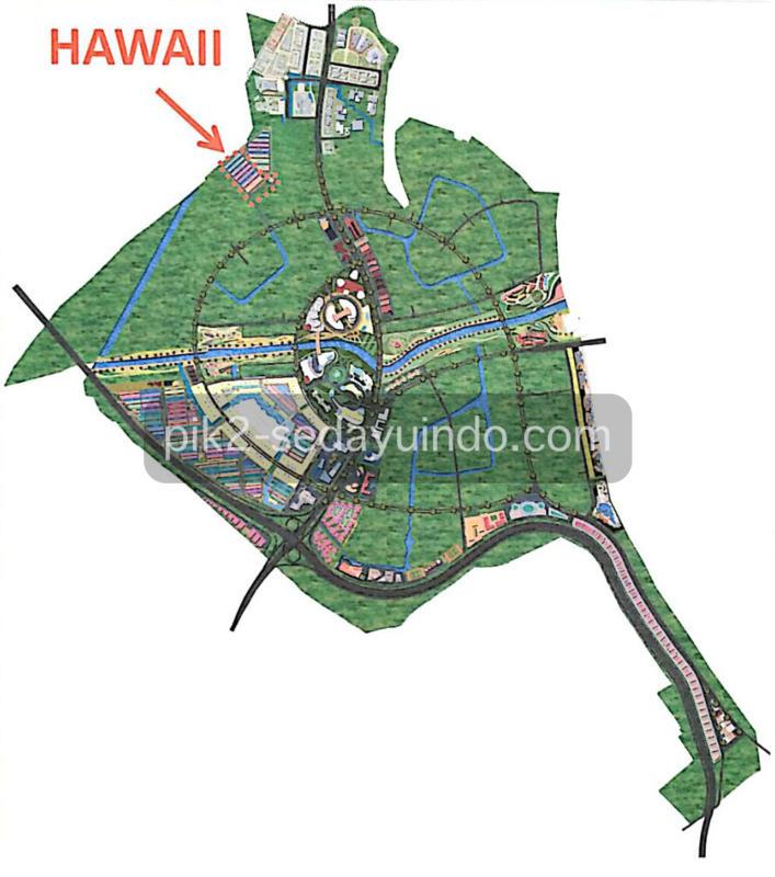 Peta Lokasi Cluster Hawai PIK 2 Sedayu Indo City