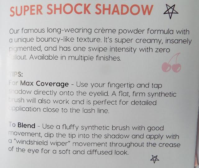 załączona instrukcja do super shock