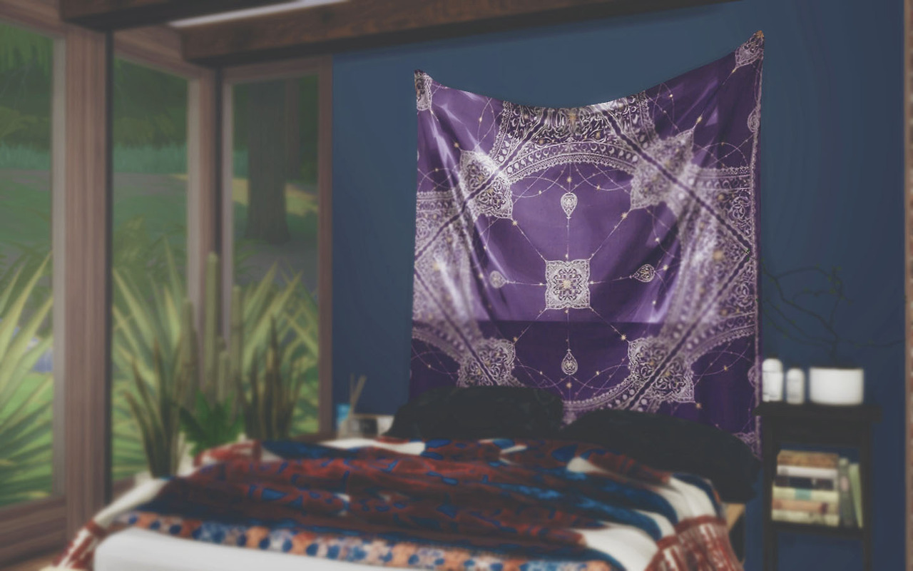 My Sims 4 Blog: Urban Outfitters Tapestries by Novvvas