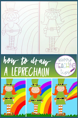 Here's a directed drawing of a leprechaun.  It's easy and so cute.