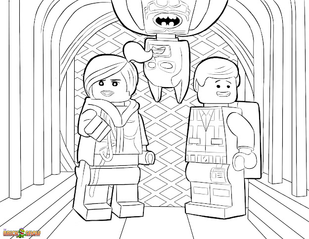 The Lego Movie Coloring Pages Free Printable