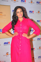 Sree Mukhi in Pink Kurti looks beautiful at Meet and Greet Session at Max Store (60).JPG