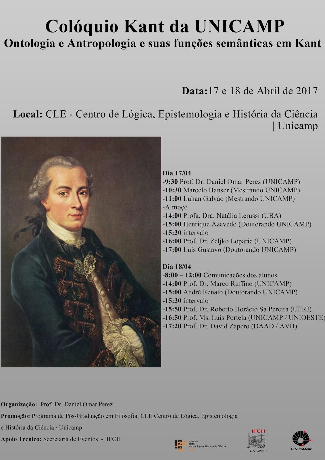 Psicanálise, Ontologia e Política  XVIII Colóquio KANT da Unicamp ... c254b3a657