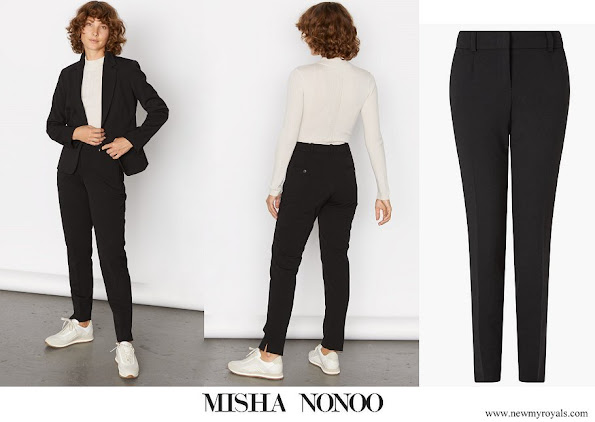 Meghan Markle wore Jigsaw Paris Slim Tapered Trousers