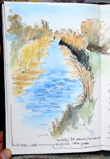 Field journal pages - Wicken Lode (Stillman and Birn beta sketchbook)