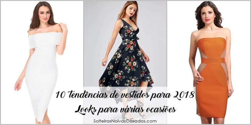 tendências de vestidos para 2018