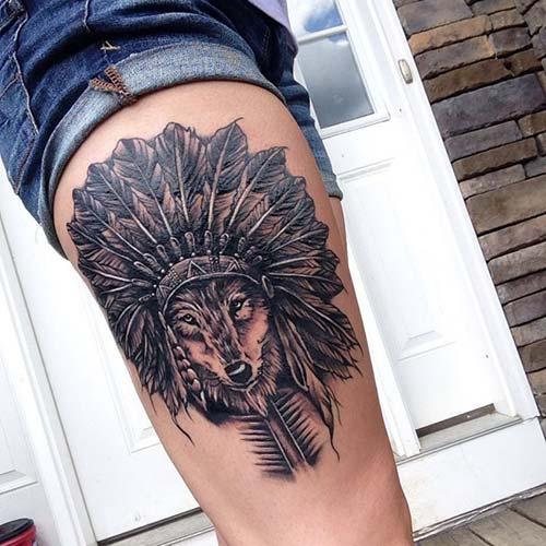 kadınlar için üst bacak dövmeleri upper leg tattoos for women 2