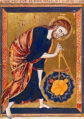 God, the Divine Architect. Illumination from Bible moralisée, c. 1250. Science