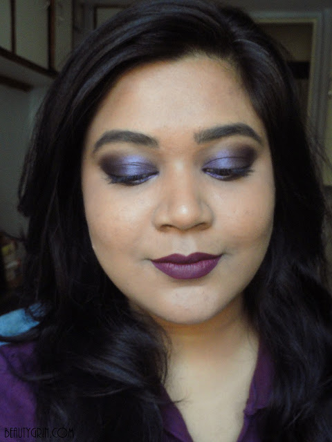 Sugar Suede Secret Matte Lipcolour in 03 Velvet Violet Lip Swatch