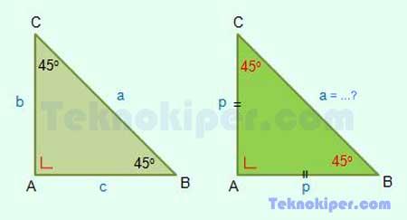 panjang sisi segitiga siku-siku istimewa