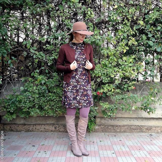 Floral Dress + OTK Boots