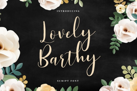 Lovely Barthy Font